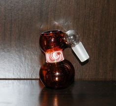 """14mm Brown Ash Catcher Bowl - 3""""H - 2 Free Daisy Screens - Free Gift!"""