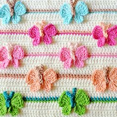 Crochet For Children: Crochet Butterfly Stitch Diagram + Step by step in...