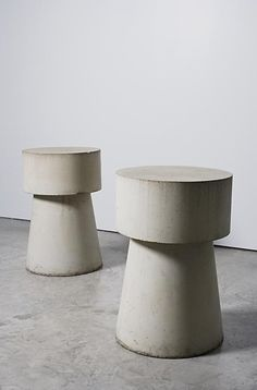 Two concrete end tables, 1980