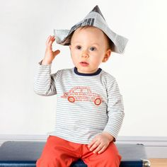 Long Sleeve Cotton T-shirt Baby Boy Fashion, Classic Outfits, Boys T Shirts, Baby Boy Outfits, Little Boys, Stripes, Stylish, Long Sleeve, Cotton
