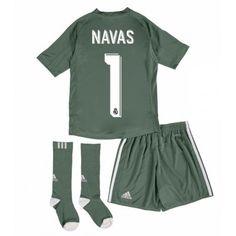 c20fd4e5 Real Madrid Keeper Keylor Navas 1 Hjemmedraktsett Barn 17-18 Kortermet # Billige #Fotballdrakter