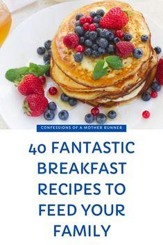 40 Fantastic Breakfast Recipes to feed your family this holiday season #Waffles #Pancakes #Eggs #Casseroles #FamilyBreakfast #Casseroles #Donuts #donoughts #SweetStuff #BreakfastIdeas #Family Oatmeal Pancakes Easy, Vegan Baked Oatmeal, Pumpkin Protein Pancakes, Great Vegan Recipes, Delicious Breakfast Recipes, Easy Recipes, Dessert Recipes, Healthy Recipes, Cinnamon Banana Bread