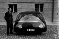The Schlorwagen - designed in prewar germany. Widely considered to be the most aerodynamic car of its time. Also known as 'the Egg', no points for guessing why.
