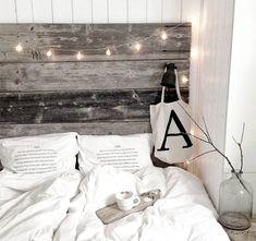 Tunnelmaa sängynpäätyyn