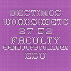 Printables Destinos Worksheets pinterest the worlds catalog of ideas destinos worksheets 27 52 faculty randolphcollege edu