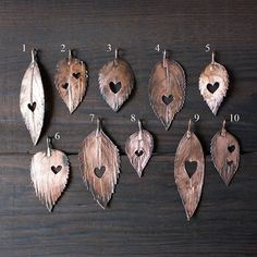Leaf heart necklace Botanical jewelry Forest by wirefoxjewellery