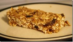 no bake protein bar: 2 cups rolled oats  4 scoops vanilla whey powder  6 tbsp peanut butter  1 tbsp cinnamon  1/4 cup raisins  one applesauce cup  1/4 cup water  Mixed until crumbly, then flattened into a 9×9 pan and stuck in the fridge to harden.