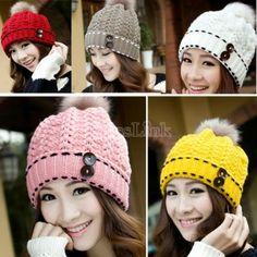 Women s Winter Warm Hats Braided Crochet Hats Ski Beanie Caps Earmuff Knitting  Cap Beanie Hats For e5943222ca7f