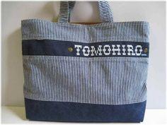 名入れ ハンドメイドヒッコリーレッスンバッグ 刺繍最終 Handmade lunch bag ¥2200yen 〆04月07日