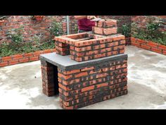 Outdoor Wood Fireplace, Wood Stoves, Concrete Crafts, Diy Home Crafts, Firewood, Kitchen Design, The Creator, Smoke Free, Building