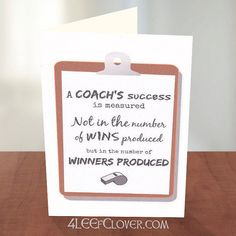 Thank You Card for a Coach. Football Coach Card. Soccer Coach Card. Coach Thank You Card. Basketball. Lacrosse. Track Coach. Cross Country.