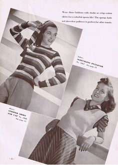 Vintage crochet and knitting patterns to download