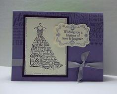 Wedding wishes in purple