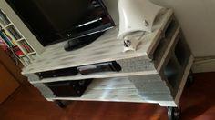 Mueble de TV hecho de palets
