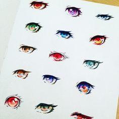 Ehhh last night I was messing with some anime eyes #eyes #anime #manga #drawingtutorial