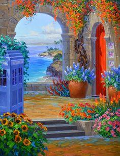 """Travels"" by Mikki Senkarik . Note the TARDIS :-)"