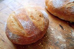 No Knead Crusty White Bread via @kingarthurflour
