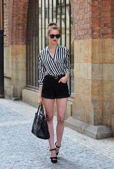 top -Chicnova/shorts -Choies/heels -Steve Madden /bag -Celine /sunglasses -Ray Ban /watch -Michael Kors