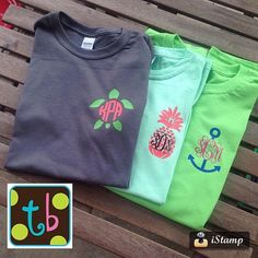 Spring Monogram Tee Design Personalized Pineapple by Tootlebugs
