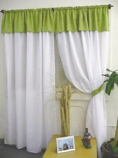 Red Kitchen Curtains, Green Curtains, Home Curtains, Window Curtains, Window Scarf, Room Planning, Curtain Designs, Home Decor Furniture, Room Set