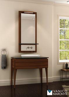 Beautiful wooden bath vanity by Vanico Maronyx / Elegancia Collection Furniture Vanity, Bathroom Furniture, Wooden Bath, Bath Vanities, Tub, Sink, Beautiful, Collection, Ideas