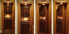 Check out this swinging wine storage unit.  It closes so smoothly that no one could ever tell that there is secret storage behind it.  Wine Cellar By CellarMaker.