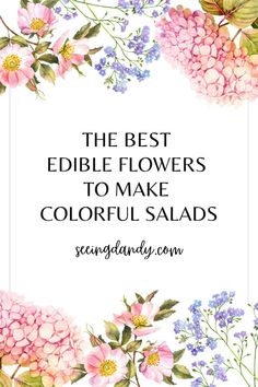 It's so easy to brighten up your salad recipes and make them colorful with edible flowers! These colorful salads are perfect for any season and flavorful. The perfect side dish for any dinner or gathering! #recipes #foodie #salad #flowers #entertaining #party #dinner #sidedish Vegetarian Salad Recipes, Salad Recipes For Dinner, Healthy Salads, Fruit Recipes, Lunch Recipes, Chicken Recipes, Clover Flower, Marigold Flower, Side Dish Recipes