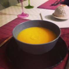 Orange and pumpkin soup