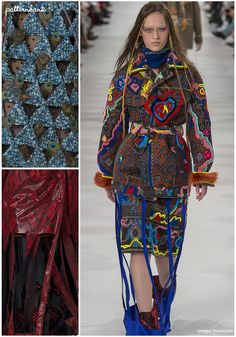 Maison Margiela's Fall 2017 collection executed by John Galliano, included clever cut-outs and fabric manipulations, a mash-up of styles and cultures in ev