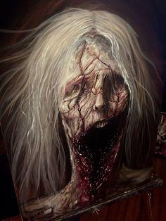 Speechless by zackdunn89 on DeviantArt Arte Horror, Horror Filme, Creature Concept, Horror Pictures, Creepy Pictures, Dark Fantasy, Fantasy Art, Cool Artwork, Dark Artwork