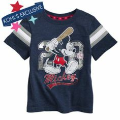 Disney Mickey Mouse Baseball Tee by Jumping Beans #MagicAtPlay #Sponsored #MC
