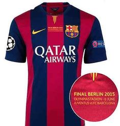 NIKE L. MESSI FC BARCELONA CHAMPIONS LEAGUE FINAL BERLIN 2015 AUTHENTIC  JERSEY. b4606fd02