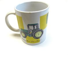 John Deere Coffee Cup Mug 1993 Tractor Farm by sweetie2sweetie