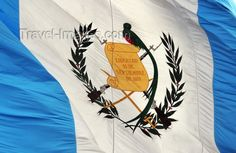 This is the Guatemalan flag.  Estevan and Esperanza fled to America from Guatemala to escape dangers there during the civil war.