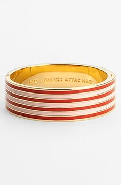 kate spade new york 'idiom - no strings attached' hinged bangle I like it in Navy and Cream colors better...