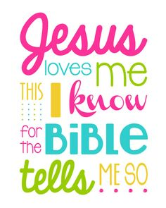 "Jesus Love Me This I Know For the Bible Tells Me So - 11x14"" print - Multi-Color Girl - Christian Wall Art - Jesus - Inspirational"