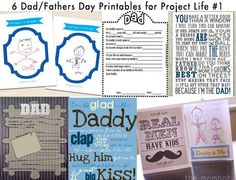 6 Fathers Day Printables for Project Life #1