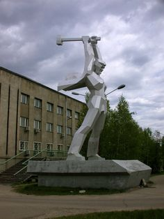 """BAM is the """"other Trans-Siberian."""" This is the guy who built it. #Tynda, #Russia"""