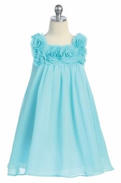 Aqua junior bridesmaid dress- thinking for my little helpers Kate & Haley :)