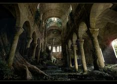 Cathedral ruins by bpsola.deviantart.com