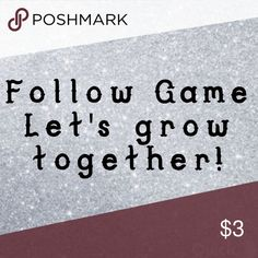 Check back for new followers! 😊🛍 Let's grow together!! 😊🛍 1.) Like this listing. 2.) Follow me. 3.) Like everyone else that has liked this listing. 4.) Share with your followers. 5.) Tag your PFFs. 6.) Check back often to like new followers. 7.) Please share this listing again each time you check back! 🛍🎉🛍🎉🛍 If you have a FG that you want me to Follow please let me know! Free People Tops
