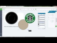 "In this video, I show you how to create your own ""starbucks"" inspired logo. Join my Facebook Group - Lessons with Selena Using Design Space, for updated sche..."