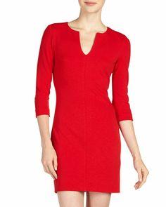 Aurora Knit Minidress, Cherry Rose by Diane Von Furstenberg at Last Call by Neiman Marcus.