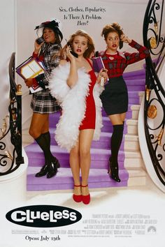 Alicia Silverstone, Stacey Dash, Brittany Murphy, and Elisa Donovan in Clueless Clueless 1995, Clueless Fashion, Clueless Style, Cher Clueless Costume, Dionne Clueless Outfits, Early 90s Fashion, Women's Fashion, Mean Girls, Classic Hollywood