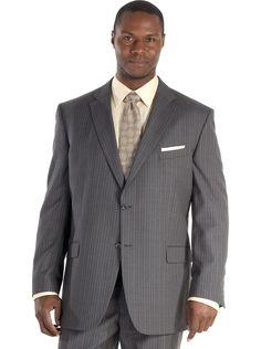 Jones New York Gray Multistripe Suit