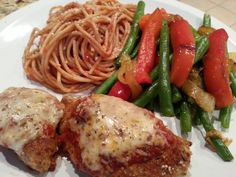 Chicken Parmesan and Green Bean Medley with Caramelized Onions » Live Well Furman