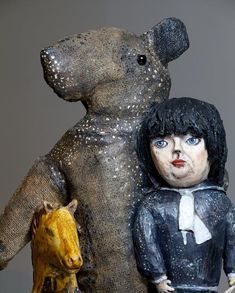 kerry jameson ceramic sculpture, mixed media 2013 - Unbounded  at Marsden Woo Gallery Remade - figures