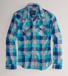 AE Checked Western Shirt... Someday my boy friend will wear this!!!