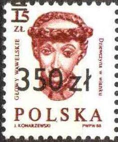 Znaczek: No.2738 Surcharged (Polska) (Rzeźbione głowy wawelskie) Mi:PL 3253,Sn:PL 2954,Yt:PL 3059,Pol:PL 3105