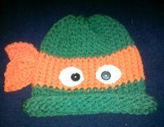 Teenage mutant ninja turtle loom knitting hat - Google Search